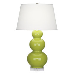 Robert Abbey - Triple Gourd Table Lamp - Lighting should reflect your aesthetic. Bedroom lighting even more so. They are often the last room in the home to be decorated. Doesn't yours deserve better?