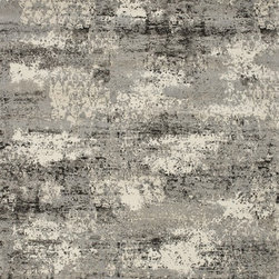 """Loloi Rugs - Loloi Rugs Viera Collection - Grey, 2'-5"""" x 7'-7"""" - Classically expressed design elements enjoy a graphic, modern twist in the Viera Collection. Power-loomed of 100-percent polypropylene, these tasteful contemporary and refined transitional designs reverberate with style. A deliberate high-low pile adds to the worn, vintage look and finish of each rug. Ultra sophisticated black/ivory and mocha/ivory color options add broad appeal to this timely yet timeless collection."""