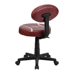 Flash Furniture - Flash Furniture Office Chairs Kids Sport Task Chairs X-GG-TOOF-1816-TB - Bring your favorite sport to the desk with this Football Inspired Office Chair that is perfect for all young football fans! The uniquely shaped football back makes this chair stand out. This chair is upholstered in vinyl material for easy cleaning. With an affordable price tag it is sure to please the young football fan in your home. [BT-6181-FOOT-GG]