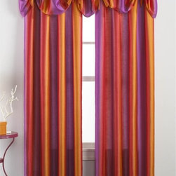 CHF Industries - CHF Rainbow Ombre Tailored Curtain Panel Pair with Optional Valance - CHFI171 - Shop for Curtains and Drapes from Hayneedle.com! Fun and festive the CHF Rainbow Ombre Tailored Curtain Panel Pair with Optional Valance adds color and style to any room. This set is made with soft poly faux silk in a rainbow of ombre colors that'll brighten up you decor. With a simple rod pocket design this set is easy to hang. Maintenance is a snap as well - machine-wash and you're done. Configuration options are available to help you create the look you desire.About CHF IndustriesCHF Industries based in New York is known for its home textile products and is the largest private-label supplier of retail-specific bedding products. CHF offers a diverse range of window products like panels valances shades kitchen tiers and even window hardware. CHF innovates with fashionable solutions such as energy-efficient interlined window panels taking steps to introduce organic products to protect the environment.