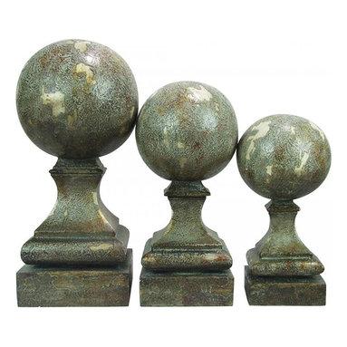 Sterling Industries - Set/3 Sphere Pediment Finials - Set/3 Sphere Pediment Finials