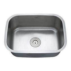 Kraus - Kraus Undermount Single Bowl 16 Gauge Stainless Steel Kitchen Sink Combo Set - Add an elegant touch to your kitchen with a unique and versatile undermount sink from Kraus
