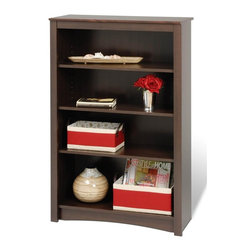 Prepac - Entryway & Home Bookcase w 4 Shelves - Four shelves. Warranty: Five years. Made from CARB-compliant, MDF, laminated composite wood. Made in North America . Assembly required. Internal: 29 in. W x 11.5 in. D x 39.75 in. H . Overall: 31.5 in. W x 13 in. D x 48 in. HWith four shelves' worth of storage for books, plates, decorative accessories and more, this stylish piece is ideal for your den, office or living room. Get even more storage by arranging it with others for a library wall effect. its one storage piece that's as fashionable as it is versatile.