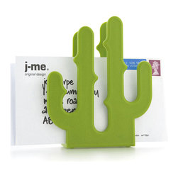 j-me design - Cactus Letter Holder - If you want to make a bold, funky statement with your letter rack then the Cactus Letter Holder is perfect for you! It looks equally good in the home or office and is a colorful and practical way to liven up your desk. The Cactus Letter Holder is made of hard plastic and is weighted for stability so that you don't have to worry about it being easily knocked over. A textured finish makes sure the Cactus Letter Holder is never an eye sore! It can easily hold up to 15 letters or other documents and it doesn't even need watering!