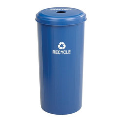 Safco - Safco Tall Round Can Only Plastic Recycling Bin Multicolor - 9632 BU - Shop for Recycling Bins from Hayneedle.com! The Safco Tall Round Can-Only Plastic Recycling Bin helps make the office or break area a little greener by adding a convenient way to recycle cans. Shaped for cans only this recycling bin is made from durable blue plastic which is puncture-resistant and it comes with a lid and a Recycle decal. Meets all OSHA requirements. Dimensions: 16 diam. x 30H inches.About SafcoSafco specializes in developing products for the changing needs of the business world offering designs that bring comfort style and value to the modern workplace. Safco recognizes the importance of comfort when it comes to doing work well so it will continue to offer new styles and new solutions to meet the ever-changing needs of the student and the employee.