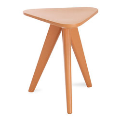 Bryght - Petite White Stool, Orange - Form and function unite in the Petite collection to offer you wonderfully vibrant pops of color. Add these Scandi style stools to your dining space or as end tables in the living room and create a youthful ambiance.