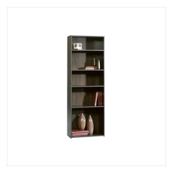 Sauder - Sauder Beginnings 5-Shelf Bookcase in Cinnamon Cherry - Sauder - Bookcases - 409090 - This bookcase is a practical addition to any home or office. Featuring three adjustable shelves, this bookcase will add style and storage to any room. Cinnamon Cherry finish.