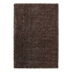 "Surya Rugs - Surya LXY1731 Luxury Shag Plush Chocolate Brown Rug - 100% Polypropylene. Style: Plush. Rugs Size: 5'3"" x 7'6"". Note: Image may vary from actual size mentioned."