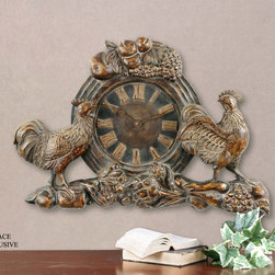 "6761 Country Clock by Uttermost - Get 10% discount on your first order. Coupon code: ""houzz"". Order today."