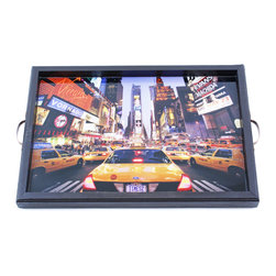 My Méz - Times Square New York Photo Tray/Wall Art - It's a tray; It's wall art. It's BOTH, and It's Made In the USA!