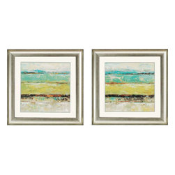 Paragon - Living Green PK/2 - Framed Art - Each product is custom made upon order so there might be small variations from the picture displayed. No two pieces are exactly alike.