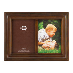 Origin Crafts - Eastman taupe 2 picture collage frame (5x7) - Eastman Taupe 2 Picture Collage Frame (5x7) Natural Pine wood, two-way easel, wall hangers. Dimensions (in): By Prinz - Prinz is a leading supplier of picture frames. At Prinz they are committed to offering unsurpassed design, quality, and value. Ships within five business days.