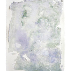 Ephemera (Original) by Lisa Bolin - Ethereal feel, yet solidly textural. soothing and serene colours. Construction adhesives and acrylic on 300# strathmore paper. Mounted to hidden spacer panel for a floating effect.