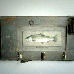 Rainbow Trout On Rustic Shutter - Made by http://www.ecustomfinishes.com