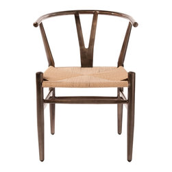 Industry West - Wishbone Chair - The pinnacle of mid-century Danish design, the Wishbone stool was designed by a carpenter-architect who was inspired by portraits of Danish merchants. Our version features a bent frame crafted of cold rolled steel and the woven seat offers maximum comfort and a classic aesthetic. It just doesn't get more timeless -- or stylish -- than this.