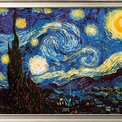 Artcom - Starry Night, c.1889 by Vincent van Gogh - Starry Night, c.1889 by Vincent van Gogh is a Framed Art Print set with a COVENTRY Champagne wood frame.
