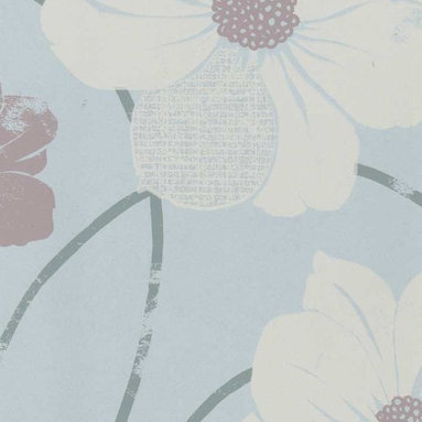 Eco Peony Wallpaper in Lilac - Giant blossoms give walls a natural feel with a subtle weathered finish.
