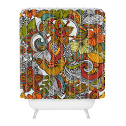 Valentina Ramos Ava Shower Curtain - Why just jump in the shower when you can enter an eye-opening realm of lush jungle flowers? Just another way to make every day amazing — and you deserve it.