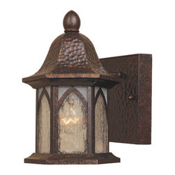 """Designers Fountain - Designers Fountain 20601-BAC 1 Light 5.5"""" Cast Aluminum Wall Lantern from the Be - Features:"""