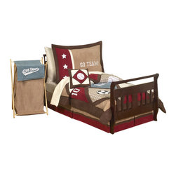 Sweet Jojo Designs - All Star Sports 5-Piece Toddler Bedding Set by Sweet Jojo Designs - No matter what team they're rooting for, this bedding set has got them covered. It's perfect for your little sports fan, decorated with all-things game-day related, from basketballs to baseball bats.
