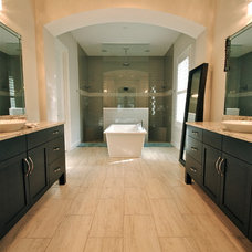 Transitional Vanity Tops And Side Splashes by Woodsman Kitchens and Floors