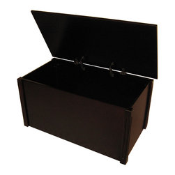 Espresso blanket chest - WoodToyBox.com features all-wood toy boxes and blanket chests with optional laser engraved personalization.  The toy boxes also feature an optional cedar base for cedar chest applications.  Available in cherry, espresso, oak and bamboo.  Produced in Bismarck, ND USA