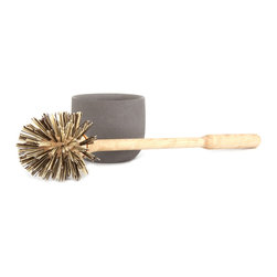 Iris Hantverk / Handmade in Sweden - Iris Hantverk Toilet Brush - At its heart, design is about turning necessities into things of beauty. Nowhere is this more evident than in this beautiful toilet brush from Iris Hantverk. You have to clean your toilet, so you might as well do so with a touch of Scandinavian style and Swedish craftsmanship. The brush's handle is constructed of oil-treated birch, and the bristles are made from high-quality polypropylene. Comes with a concrete brush holder.