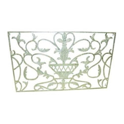"""Dr. Livingstone I Presume - Iron Urn Wall Decor by Dr. Livingstone I Presume - Achieve simple luxury with this burnished silver iron urn wall accent. Whether leaning on a mantle or hanging, this classic design will have an impact on all decor styles. Step out of the box and consider this in place of a bed's headboard. (DLIP) 50"""" wide x 2.5"""" deep x 30"""" high"""