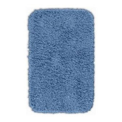 "Garland Rug - Bath Mat: Accent Rug: Jazz Basin Blue 24"" x 40"" Bathroom - Shop for Flooring at The Home Depot. Liven up your bathroom with a Jazz Shag Bathroom Rug. These hip and fun rugs will fit easily into any bathroom decor. Jazz is made with 100% Nylon for superior softness and colorfastness. Proudly made in the USA."
