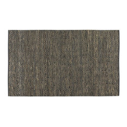 Uttermost - Uttermost Taryn 5 x 8 Chevron Rug 71040-5 - Rescued Sueded Black Leather And Natural Jute Hand Woven In A Subtle Chevron Pattern. This Rug Is Not Recommended For High Traffic Areas.