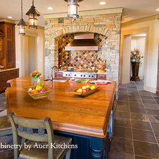Grothouse interior design ideas with wood countertops