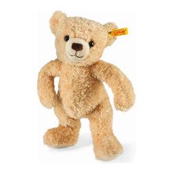Steiff - Steiff Plush Kim Teddy Bear - Huggable and cute! Steiff Kim teddy bear is made of cuddly soft beige plush. Machine washable.  Ages 3 and up. Handmade by Steiff of Germany.