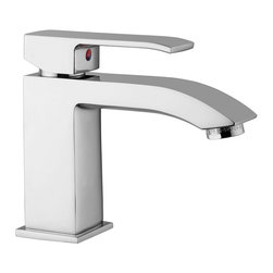 WS Bath Collections - Level Single Lever Sink Mixer - Level by WS Bath Collections Single Lever Basin Mixer without Waste in Polished Chrome or Mat Chrome, Made in Italy