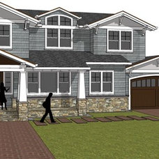 Craftsman Rendering by Studio S Squared Architecture, Inc.