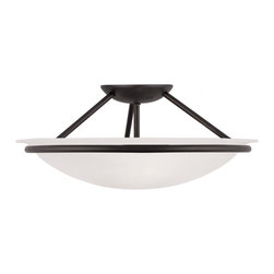 Joshua Marshal - Black Bowl Semi-Flush Mount - Black Bowl Semi-Flush Mount
