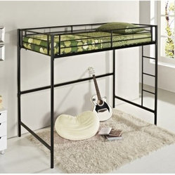 Shop loft bed with desk underneath products on houzz - Low sitting bed frame ...