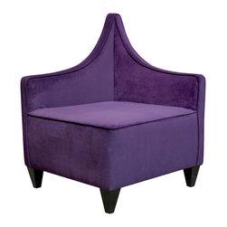 Howard Elliott - Howard Elliott Bella Eggplant Manhattan Corner Chair - Manhattan corner chair bella eggplant
