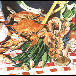 Caroline's Treasures - Crab Boil Indoor Or Outdoor Mat 24X36 Doormat - Indoor / Outdoor Mat 24x36 - 24 inches by 36 inches. Permanently dyed and fade resistant. Great for the front door or the back door.  Use this mat inside or outside.    Use a garden hose or power washer to chase the dirt off of the mat.  Do not scrub with a brush.  Use the Vacuum on floor setting.  Made in the USA.  Clean stain with a cleaner that does not produce suds.
