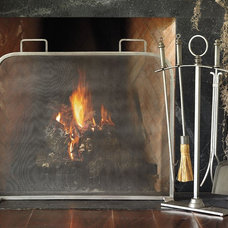 Contemporary Fireplace Screens by Pottery Barn