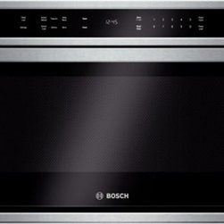 Bosch - HMD8451UC 800 Series Drawer Microwave with 10 Power Levels  Glass Touch Controls - Drawer microwave opens and closes automatically with the push of a button and can be installed flush to cabinet Features glass touch controls with an LCD white display for a sleek look The automatic sensor controls simplify coking for great results e...
