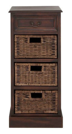 Benzara - British Styled Woods Basket Stand - British Styled Woods Basket Stand. This creative Basket stand is made from strong wood features four drawers.