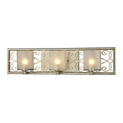 Elk Lighting - Santa Monica Aged Silver Three Light Bath Fixture - - Bulb Included: Yes Elk Lighting - 31428/3