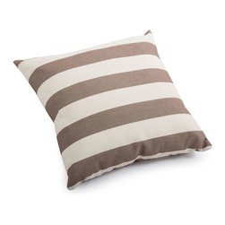 ZUO - Pony Outdoor Pillow - Small - Bold stripes of sand and brown make the Pony Pillow a perfect accent piece. Overstuffed and water resistant, it's just right for that outdoor lounger. Comes in small or large.