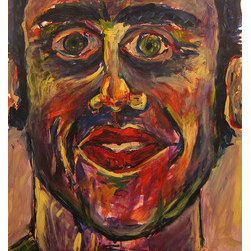 Selfie (Original) by Daniel Kanow - In the mirror, set into the space of looking deeply. A selfie, a quick glimpse of the self, in constant change and admiration. Painted expressively, allowing the soul to blossom.