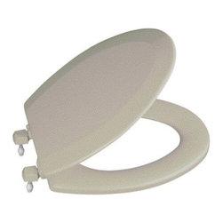 KOHLER - KOHLER Triko Molded Toilet Seat with Round, Closed-Front, Cover & Plastic Hinges - KOHLER K-4716-T-G9 Triko Molded Toilet Seat with Round, Closed-Front, Cover and Plastic Hinges in Sandbar