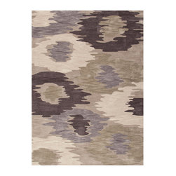 Fusion Classic Gray Rug - 7.6' x 9.6' - Embrace the unexpected while elevating craftsmanship in your transitional room when you choose an instant mood-setting piece like the Fusion Classic Gray rug to adorn your floor. Hand-tufted from durable manmade fibers and designed with a liquid pattern of color fields in delightfully murky tones of grey and ecru, this rug offers pleasing boldness in toned-down, urbane hues.