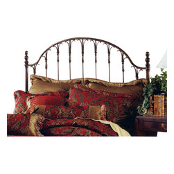 Hillsdale Furniture - Hillsdale Tyler Poster Headboard - King - The Tyler bed is a stately addition to any home. The rich antique bronze finish enhances the flared spindles an intricate posts. The Tyler bed is a grand centerpiece complimenting any decor.