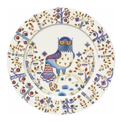 Iittala - Taika Dinner Plate, White - Bring fanciful flair to your dinner fare. This charming owl print has a fairy-tale feel that's sure to enchant family and friends who gather at your table.