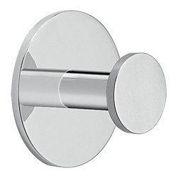 "Gedy - Adhesive Mounted Polished Chrome Aluminum Bathroom Hook - Hook mounts easily to wall with adhesive. Simple round contemporary robe, clothes, or towel hook. Sleek wall mounted bathroom hook made out of high quality aluminum and finished in polished chrome. Designed and made in Italy by Gedy, and part of the Ustica Collection. Mounts to wall using adhesive only. Wall mounted bathroom hook. Round robe, towel, or clothes hook. Made of high quality aluminum. Finished in polished chrome. From the Gedy Ustica Collection. Bathroom Hook: Width: 2.4"" height: 2.4"" depth: 1.6""."