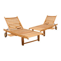 International Home Miami - Amazonia Teak Cairo 2-Piece Teak Loungers - Great Quality, elegant design patio set, made of 100% high quality teak wood. Enjoy your patio with style with these great sets from our Amazonia Teak outdoor collection